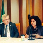 Photo Yanar speaking at Irish UN Mission