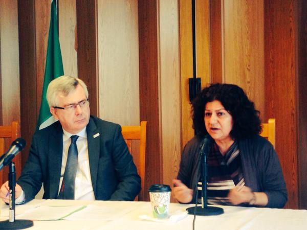 Photo Yanar speaking at Irish UN Mission